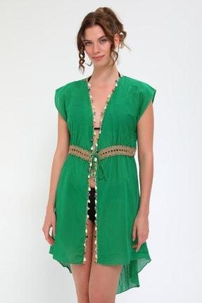 Kadın Yeşil Plaj Elbisesi 2003