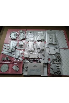 Özçıpa Hediye Pembe Ahşap Barbie Evi 80 cm Eşyalı 4