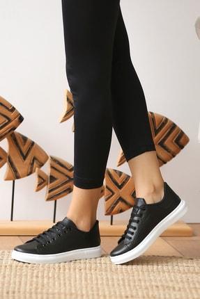 Pembe Potin Kadın Siyah Casual Ayakkabı 1