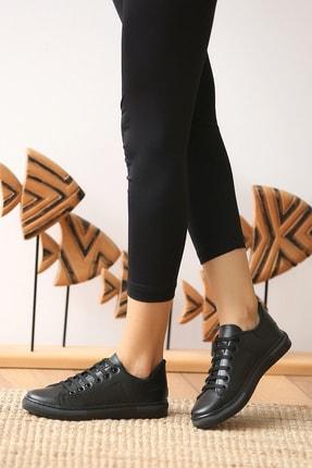 Pembe Potin Kadın Siyah Casual Ayakkabı 2