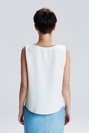 adL Kadın Kemik Yakası Ribanalı Bluz 3