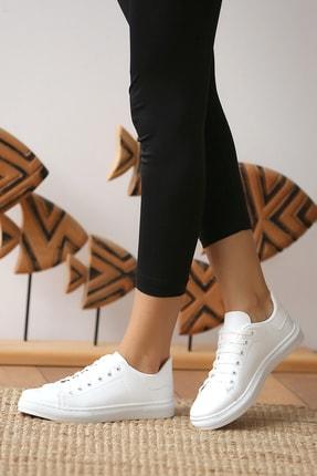 Pembe Potin Kadın Beyaz Casual Ayakkabı 2