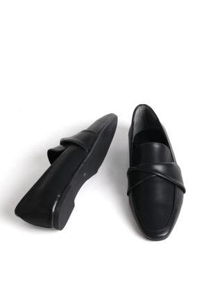 Marjin Dolinva Kadın Loafer Ayakkabısiyah 4