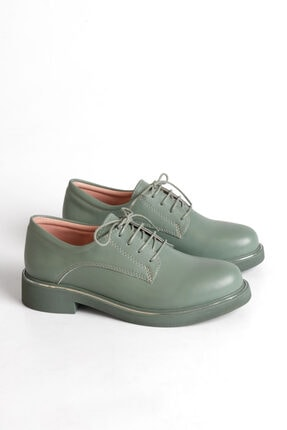 Marjin Kadın Yeşil Oxford Ayakkabı Terva 2