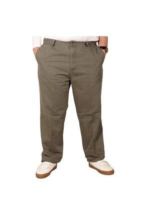 Picture of Büyük Beden Erkek Gabardin Pantolon 21002 Haki