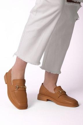 Marjin Kadın Loafer Ayakkabı Racescamel 1