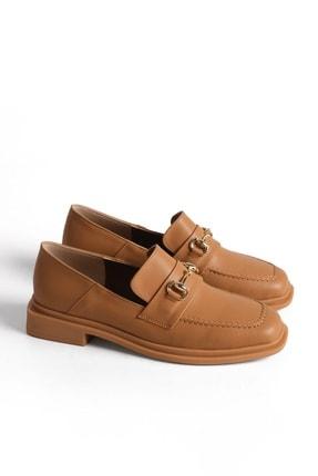 Marjin Kadın Loafer Ayakkabı Racescamel 2