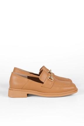 Marjin Kadın Loafer Ayakkabı Racescamel 3