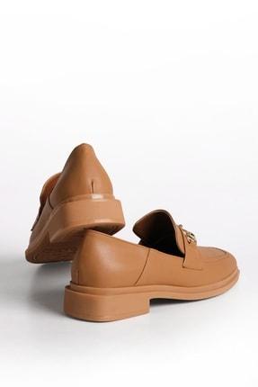 Marjin Kadın Loafer Ayakkabı Racescamel 4