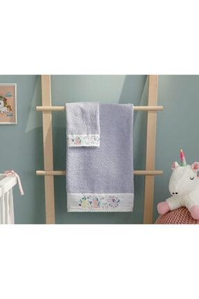 English Home Mini Unicorn Bebe Banyo Havlusu 70x130 Cm Lila 2
