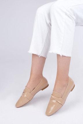 Marjin Kadın Bej Rugan Loafer Ayakkabı Rezva 1