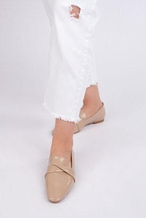 Marjin Kadın Bej Rugan Loafer Ayakkabı Rezva 4
