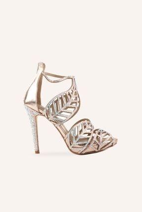تصویر از Altın Leaf Topuklu Sandalet