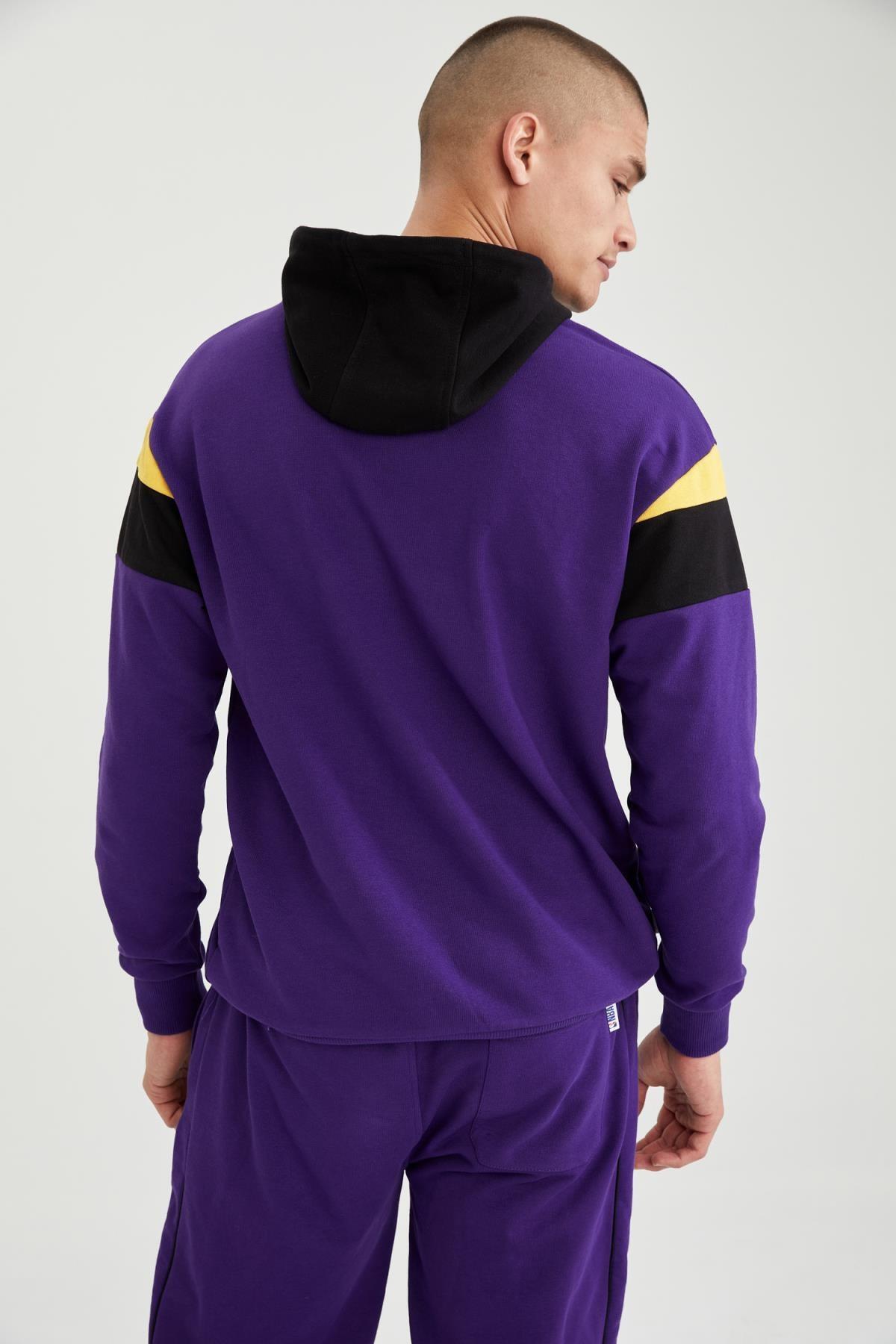 Defacto Erkek NBA Lisanslı Oversize Unisex Kapüşonlu Sweatshirt T7557AZ21SP 3