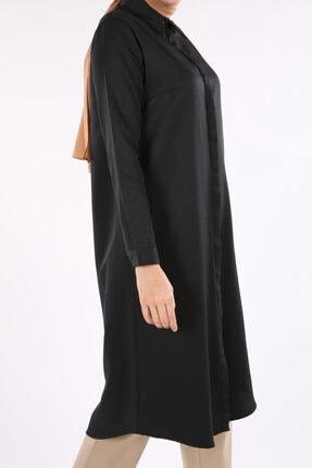 ALLDAY Kadın Siyah Gizli Patlı Uzun Tunik 2