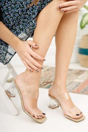 meyra'nın ayakkabıları Kadın Şeffaf Bant ve Topuk Detay Topuklu Ayakkabı 2