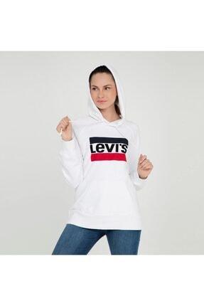 Levi's Kadın Beyaz Sweatshirt 35946-0001 3