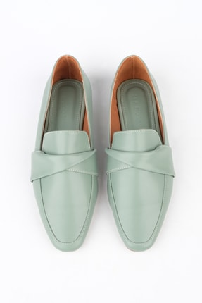 Marjin Kadın Yeşil Loafer Ayakkabı Dolinva 0