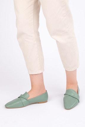 Marjin Kadın Yeşil Loafer Ayakkabı Dolinva 4
