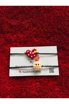 BEŞ SEKİZ Noel Baba Ve Kokinalı Kalp Figürlü Cam Bileklik 0