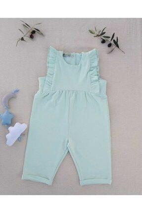 Kız Bebek Su Yeşili Rustik Elbise Rustik Su Yeşili Kız Bebek