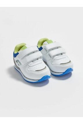 LC Waikiki Erkek Bebek Beyaz Cırtlı Sneaker Ayakkabı 0