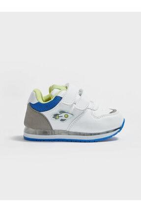 LC Waikiki Erkek Bebek Beyaz Cırtlı Sneaker Ayakkabı 1