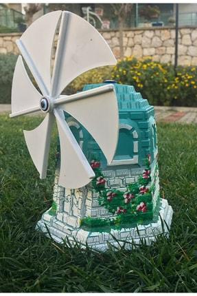 bimbambom Dekoratif Yel Değirmeni, Yeşil Alaçatı Yel Değirmeni, Büyük Bahçe Süsü 0