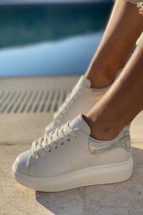 İnan Ayakkabı Unisex Delik Detaylı Parçalı Sneaker 0