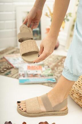 Muggo Mgnakıs03 Kadın Kahverengi Sandalet 3