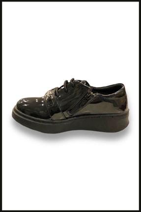 Vicco Love Fermuarlı Rugan Ayakkabı Siyah 969.v.513 1