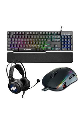 Rampage Gaming Oyuncu 3in1 Set Kb-r88 Klavye+k29 Kulaklık+smx-r115 Mouse 0