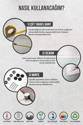 Abant Glass Düz Renk - Siyah   Cam Ocak Arkası Koruyucu   52cm X 60cm 2
