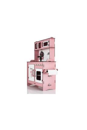 EMRİN AHŞAP OYUNCAK VE HEDİYELİK EŞYA Pembe Renk -Büyük Boy  Evcilik Oyuncak Mutfak Seti - Montessori - Model:epyb1 1