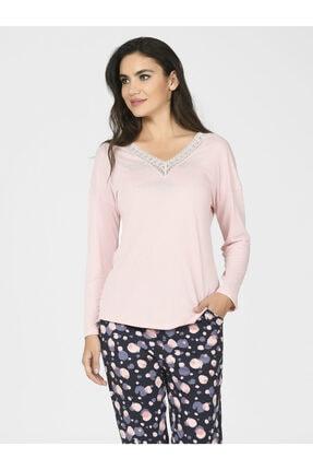 Nbb Kadın Yuvarlak Desen Pijama Takımı 67057 2