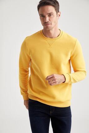 Defacto Bisiklet Yaka Regular Fit Basic Sweatshirt 0