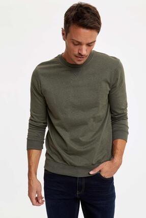 Defacto Bisiklet Yaka Regular Fit Basic Sweatshirt 4