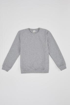 Defacto Erkek Çocuk Basic Selanik Kumaş Sweatshirt 0