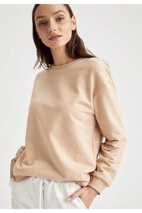 Defacto Yarım Düşük Omuz Sweatshirt 4