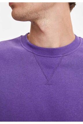Defacto Bisiklet Yaka Regular Fit Basic Sweatshirt 2