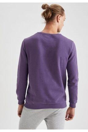 Defacto High Baskılı Bisiklet Yaka Regular Fit Sweatshirt 3