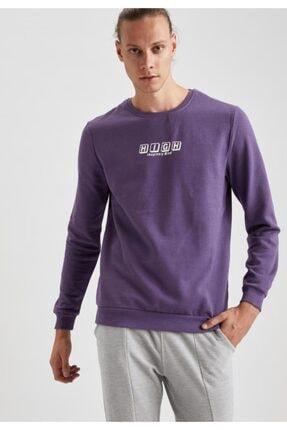 Defacto High Baskılı Bisiklet Yaka Regular Fit Sweatshirt 4