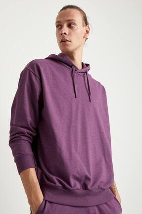 Defacto Oversize Fit Kapüşonlu Basic Sweatshirt 2