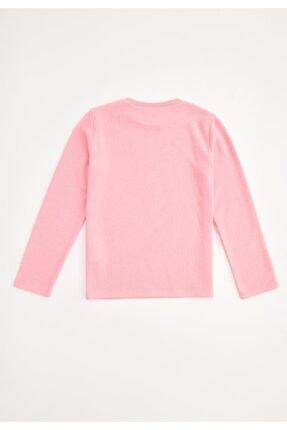 Defacto Kız Çocuk Baskılı Selanik Kumaş Sweatshirt 1
