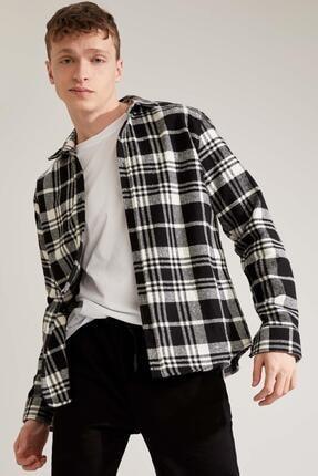 Defacto Regular Fit Uzun Kollu Gömlek Ceket 2