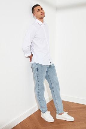 TRENDYOL MAN Beyaz Erkek Slim Fit Basic Gömlek Yaka Gömlek TMNSS21GO0476 3