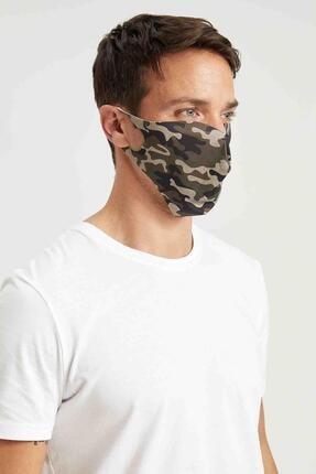 Defacto Kamuflaj Desenli Yıkanabilir Maske 1