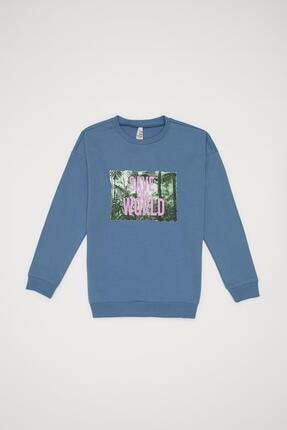 Defacto Unisex Baskılı Organik Sweatshirt 2