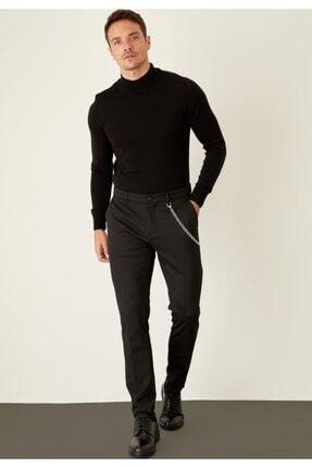 Defacto Erkek Siyah Balıkçı Yaka Slim Fit Triko Kazak R1127AZ20WN 3