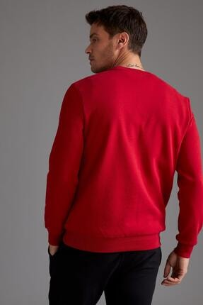 Defacto Regular Fit Bisiklet Yaka Sweatshirt 3
